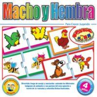 JUEGO DE ENCAJE ANIMALES MACHO Y HEMBRA