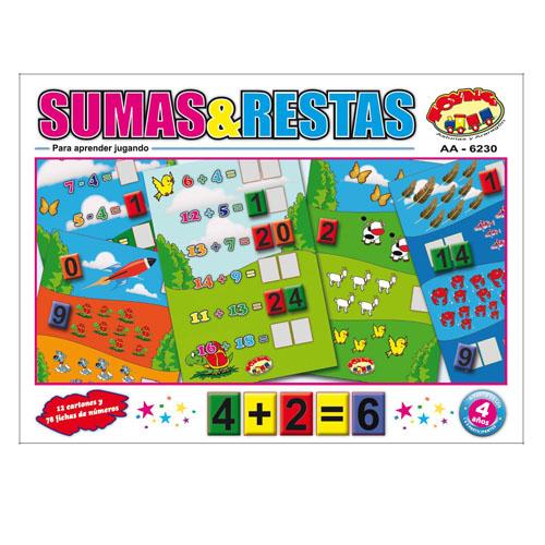JUEGO SUMAS Y RESTAS
