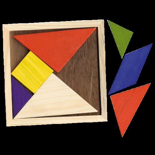 TANGRAMA DE MADERA PEQUEÑO - geometría