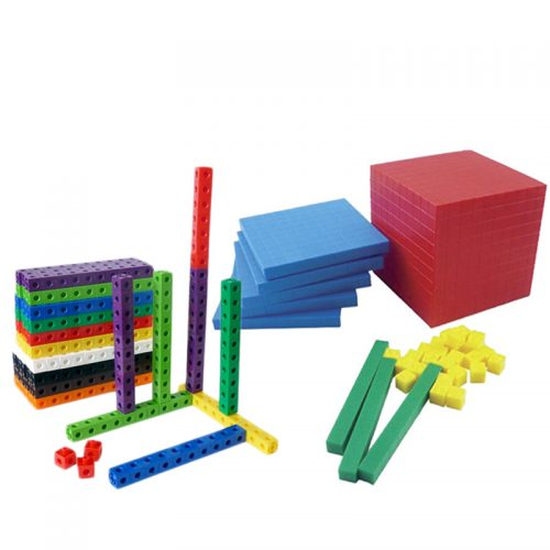 SET CUBOS CONECTORES + BLOQUE BASE 10