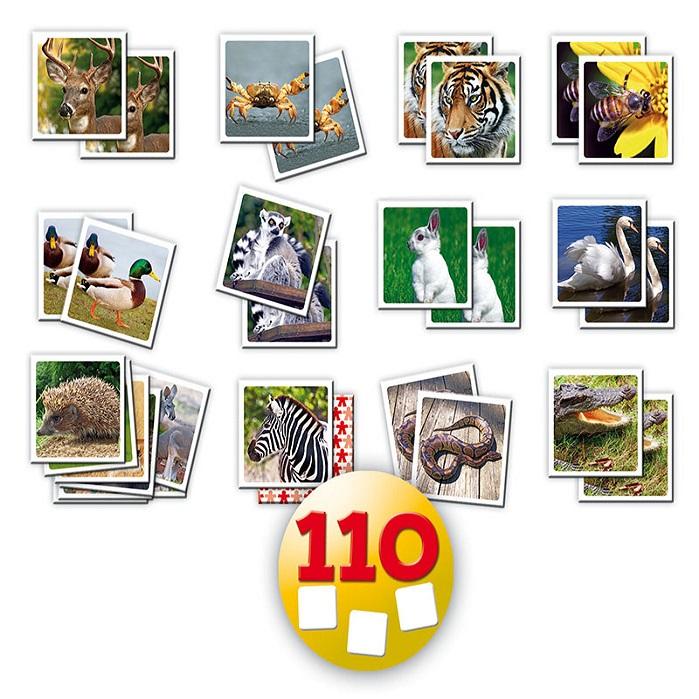 JUEGO MEMORICE ANIMALES SELVA 110 PCS