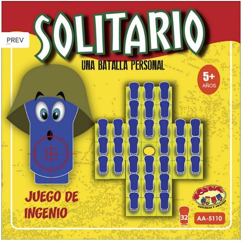 JUEGO DE MESA SOLITARIO