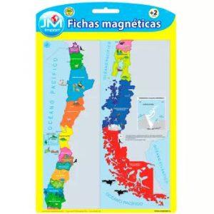 PIZARRA MAGNETICA PUZZLE MAPA DE CHILE